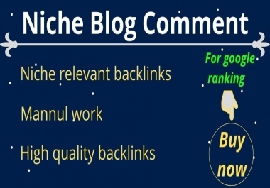 I will provide 60 niche relevant blog comment backlinks
