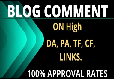 I Will do 100 High Quality blog comment backlinks