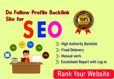 Get 50 High Quality SEO Profile Backlinks Manually
