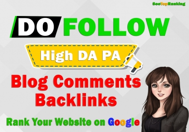100 High Quality Niche Related Blog Comments Backlinks SEO Service