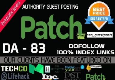 Write and Publish An Influential Guest Post On Patch Da 90 USA news Blog.