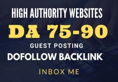 provide you dofollow backlink with guest post on 75 plus da