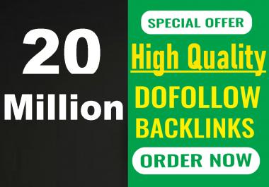 I will build 20 million gsa live backlinks