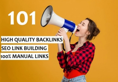 I will do 101 SEO link building backlinks,for google ranking