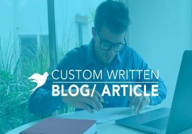I will write a custom blog or article