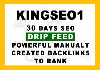 30 Days SEO Drip Feed PowerFull Backlinks TOP on GOOGLE