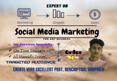 I will Social Media Advertising And Promotion Services Globally. For any Business Or any Product.