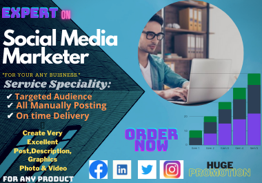 Social Media Marketing For Any Business. And Promote Globally. More than 2 millions targeted people.