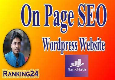 I will do wordpress Rank Math SEO onpage optimization