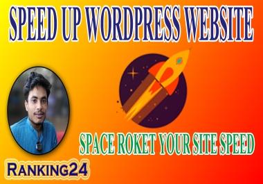 I will do wordpress speed optimization , speed up wordpress , increase page speed