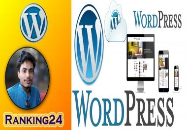I will do create wordpress website design and development