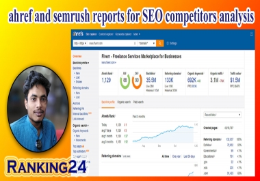 I will do best run ahref and semrush reports for SEO competitors analysis