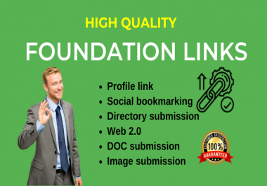 Create 30 off page optimization / Foundation links manually through whitehat SEO link building