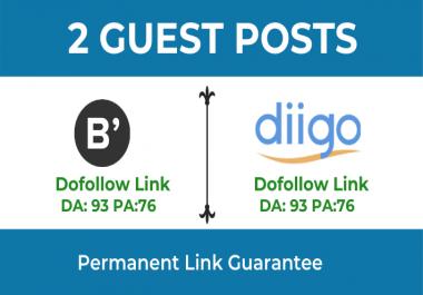 Write & publish High Quality 2 Dofollow Guest Post on Bloglovin & Diggo.com - DA 93