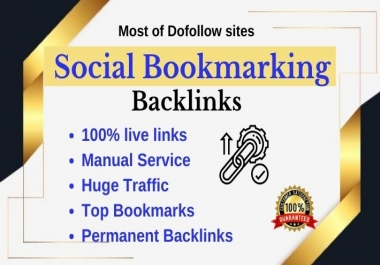 35 Social bookmarking submission backlinks on high authority bookmarks site