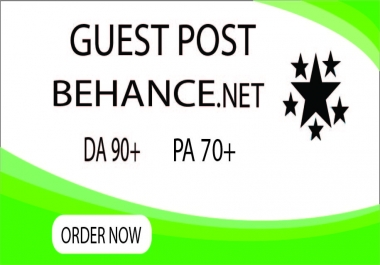 I will create guest post backlinks on behance.net
