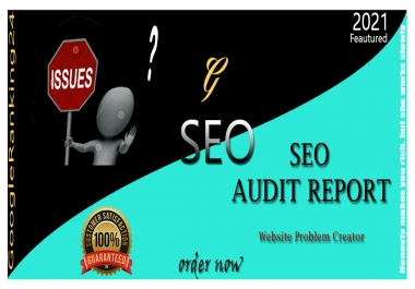 Create Professional SEO Audit Report And manually Finding More Issues For Your Web Site