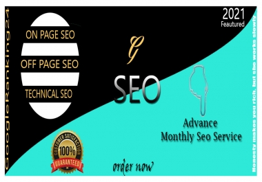 I will deliver a advance monthly SEO package for google page1 ranking