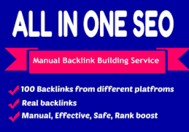 All in One Create 90 SEO Backlinks, PBN, Web2 , Profile To Rank You on Google