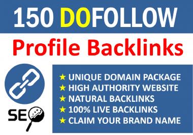 150 Manual Social Profile Backlinks Building Service for 2021 Google ranking
