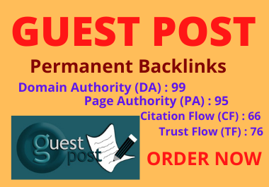 Write and Publish 5 guest post unique article DA90+ permanent backlinks