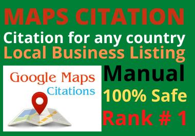 Manual 150 Google Maps Citation permanent backlinks bring more traffics