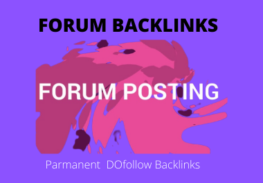 I will do 35 high quality forum post