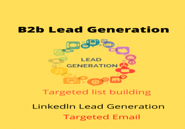 I will do 100 b2b lead generation and web research and create email list