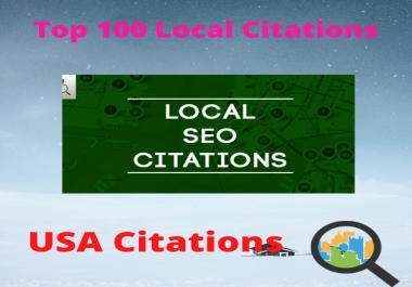 I will create 100 local listing citation