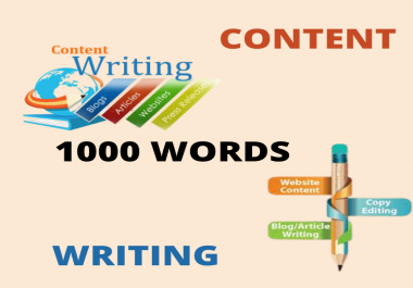 I will provide 1000 words SEO blog posts, articles, and website content
