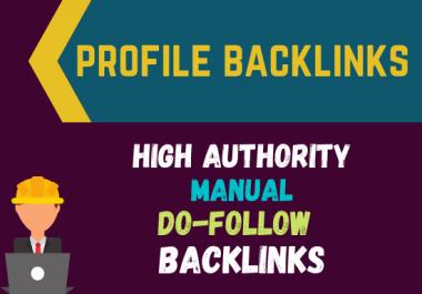 I will do 100 DA PA Dofollow profile backlinks