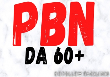 I will high quality pbn links with high da and pa