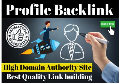 Profile backlinks 31 make manually High Quality on top listing link building