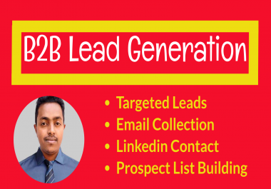 I will linkedin lead generation,data entry and list building