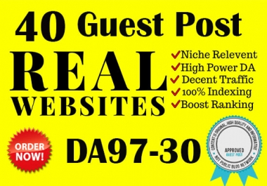 I will send your website to the top of google with 40 real guest post