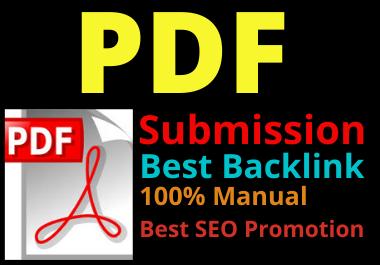 I will do 20 pdf submission in high da pa site