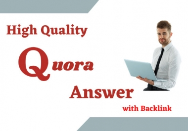 promote your web site with 20 high quality Quora answers backlinks