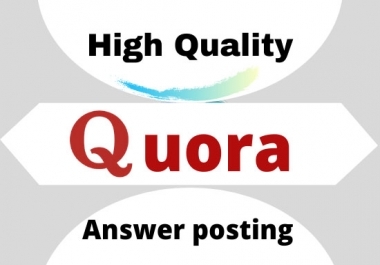 promote your web site with 10 high quality Quora answer