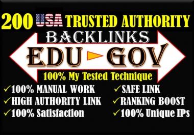 I Will Make Manual 100 USA EDU GOV Trusted Google SEO Athority Backlinks From Top Brands