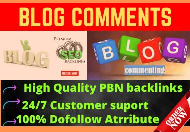 Live 50 High Quality Blog Comments Do Follow Permanent Backlinks on DA 30+