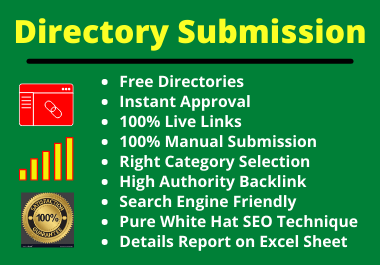 35 Directory Submission Backlink Instant Approve on High Authority Site Manually for Any Country