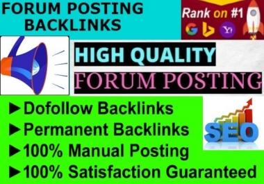 I will create 40 high quality forum posting backlinks
