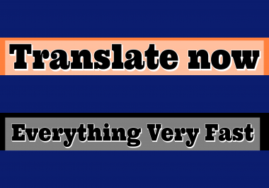 Quality translation from English to French, English to Spanish.