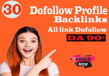 manually create 30 pr9 authority profile SEO backlinks