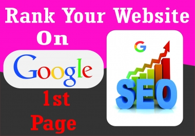 I will do monthly SEO and help to rank your website on google first page with linkbuilding