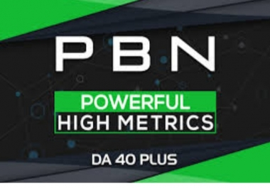 Write and Publish 5 High Quality DA 40+ Homepage PBN Backlinks To Skyrocket you SERP