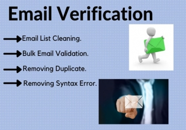 I will provide bulk email verification and list cleaning service