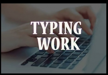 I will do typing job from pdf, handwriting or images to word,