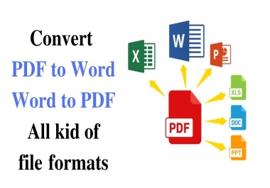 i will convert pdf to word ,excel,image , all formaty