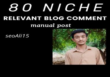 80 niche relevant blog comment manual post